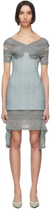Charlotte Knowles SSENSE Exclusive Blue Check Anti Dress
