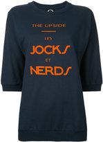 The Upside 'nerds' print sweatshirt