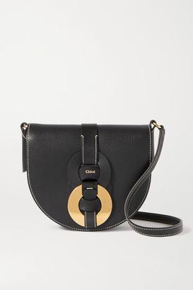 Chloé Darryl Small Textured-leather Shoulder Bag - Black