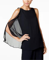 MSK Embellished One-Sleeve Cold-Shoulder Top