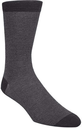 Cole Haan Men Pique Knit Textured Crew Socks