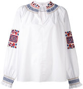 Tibi embroidered tunic - women - Cotton - M