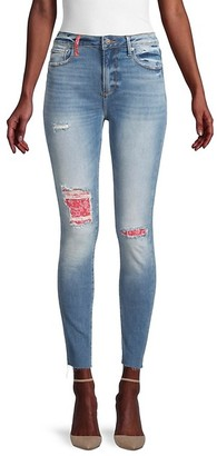 Driftwood Jackie High-Rise Patch Skinny Jeans
