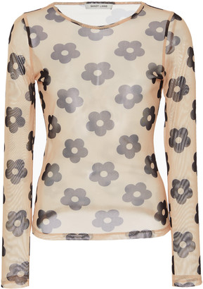Sandy Liang Powers Printed Jersey Top