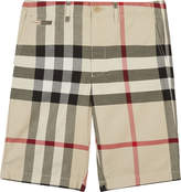 Burberry Check cotton chino-style shorts 4-14 years