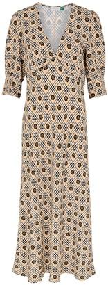 Rixo Zadie Printed Midi Dress