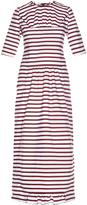 Marni Breton-striped gathered midi dress