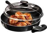 Ecolution Artistry 11 in. Chicken Fryer with High Dome Glass Lid in Black