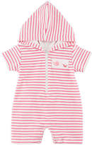 Kissy Kissy Ocean Treasures Striped Hooded Beach Romper, Size 3-24 Months