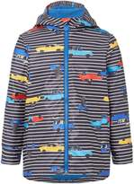Joules Boys Car Stripe Rubber Coat