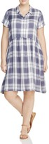 Junarose Jacqueline Plaid Shirt Dress
