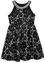 Us Angels Girls' Floral Lace Dress