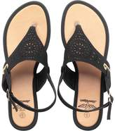 Board Angels Womens Punch Detail Y Front Sandals Black