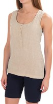 Jones New York Jones & Co Linen-Chambray Henley Tank Top (For Women)