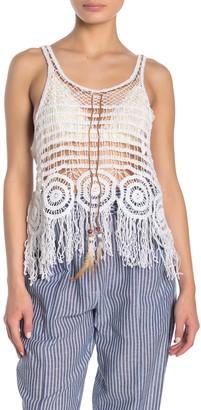 Angie Circle Design Crochet Tank Top