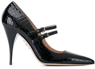Miu Miu snakeskin effect high-heels