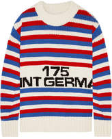 Sonia Rykiel Oversized Intarsia Wool Sweater - Red