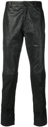 Haider Ackermann tapered panelled trousers