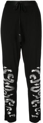 Josie Natori Embroidered Trousers