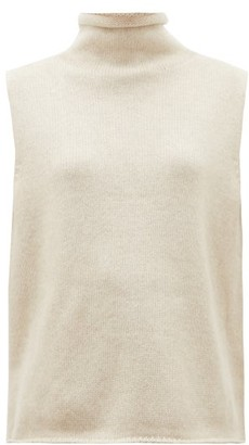 The Row Beriko Sleeveless Roll-neck Cashmere Sweater - Beige