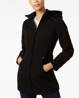 Laundry by Shelli Segal Petite Faux-Fur-Trim Quilted Coat