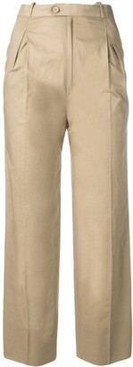 Jean Louis Scherrer Pre-Owned 1970's Straight Cropped Trousers