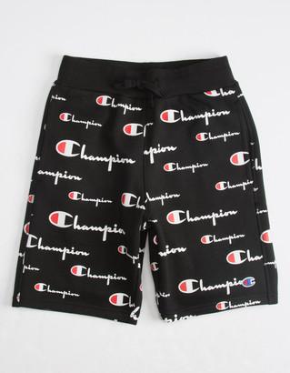 Champion Allover Print Boys Sweat Shorts
