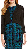 Calvin Klein Sequin Open Front Shrug