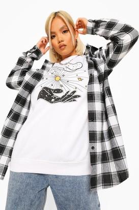 boohoo Petite Mystic Sweatshirt
