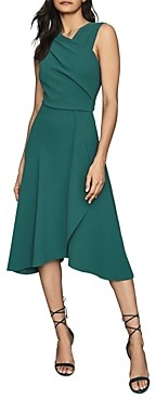 Reiss Marling Wrap-Front Midi Dress