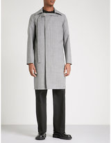 Raf Simons Buckle-fastened houndstooth wool coat
