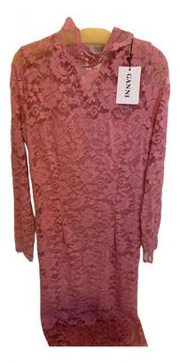 Ganni Pink Lace Dresses