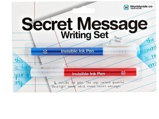 Npw Secret Message Writing Set