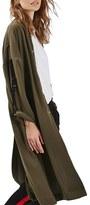 Topshop Women's Bomber Duster Coat