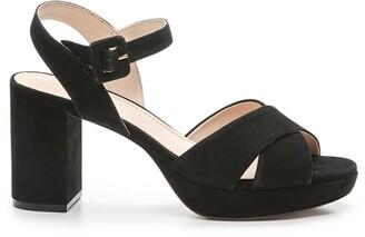 Cosmo Paris Jija Suede Sandals with Block High Heel