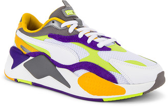 Puma Select RS-X3 Level Up Sneaker in Puma White & Limepunch | FWRD
