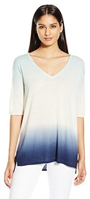 Minnie Rose Women's Super Luxe Cashmere Dip Dye Pow Wow
