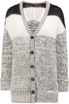 Just Cavalli Brushed Mélange Chunky-Knit Cardigan