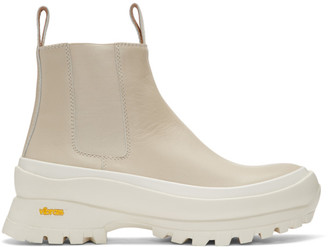 Jil Sander Off-White Lugged Sole Boots