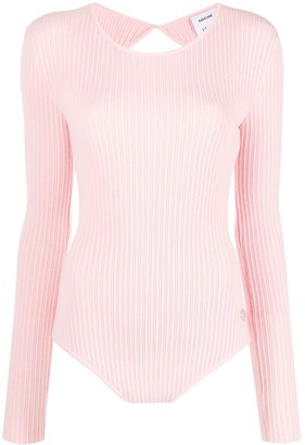 Emilio Pucci x Koche open back knitted top