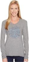 Life is Good Sun Long Sleeve Hooded Smooth Tee Women's Sweatshirt