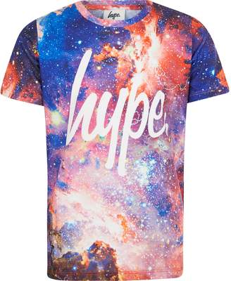 Hype River Island Boys Red space print T-shirt