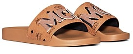 MCM Women's Visetos Patch Slide Sandals