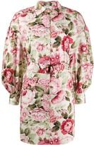 P.A.R.O.S.H. floral-print mini dress