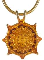 14K Yellow Gold & Trozzo Fancy Scallop Cut Citrine Pendant