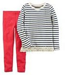 Carter's Girls 4-8 Striped Top & Solid Leggings