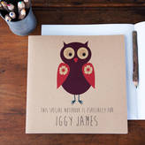 STUDY Lou Brown Designs Personalised Owl Notebook