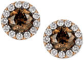LeVian Le Vian Chocolatier Diamond Halo Stud Earrings (1-5/8 ct. t.w.) in 14k Rose Gold
