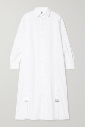Noir Kei Ninomiya Oversized Cotton-poplin Shirt - White
