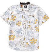 O'Neill Simich Allover Reverse Tropical Printed Short-Sleeve Shirt